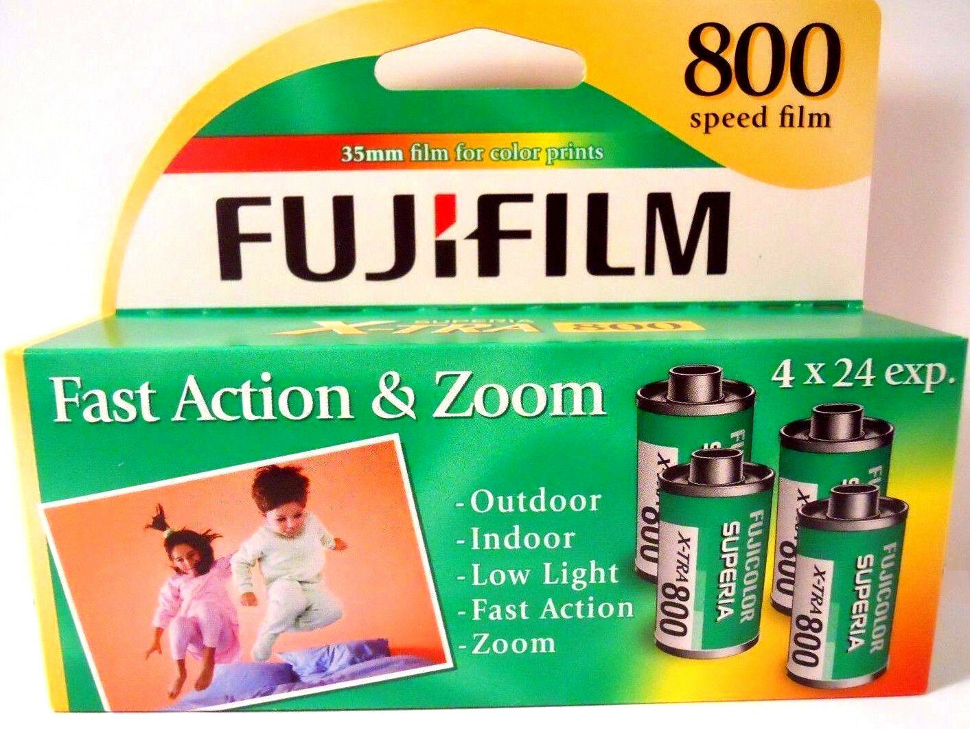 Fuji Film Superia X-tra  800 Speed 35mm (1 Box 96 exposures) Fresh 2017