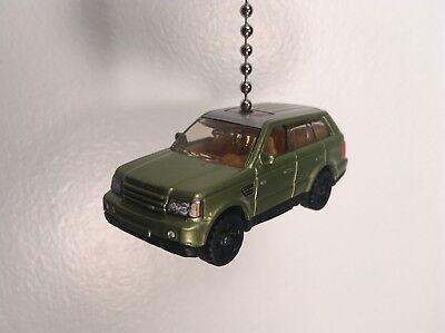 Matchbox Custom Made Fan Pull Light Green 2005 Land Rover Range Rover Sport