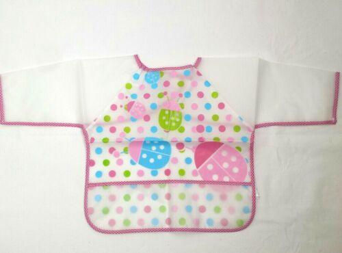 NEW! Restar Baby Bibs Waterproof Long Sleeve & Pockets Suitable For 2-5 Years.