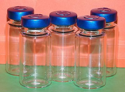 2 x Clear 10 ml depyrogenated and sterile vials vial.(UK Stock) Mix HCG Etc