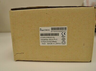 Ge Versamax Micro Plc 14 Point Dcdcrelayic200udr002. New Surplus In Open Box
