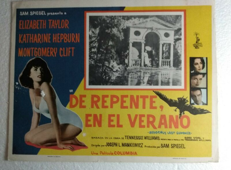 Suddenly Last Summer _ Mexican Lobby Card