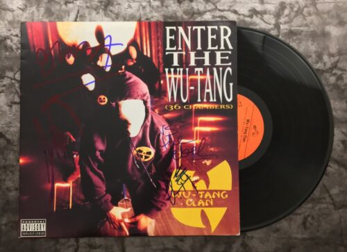 GFA Enter the 36 Chambers x7 * WU-TANG CLAN * Signed Record Album PROOF AD2 COA