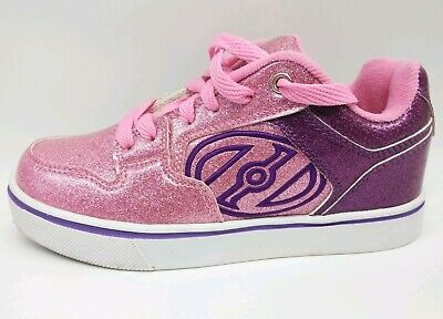 Girls Heelys Motion Plus Pink Glitter Skate Sneaker Size US 3 NO WHEELS Youth