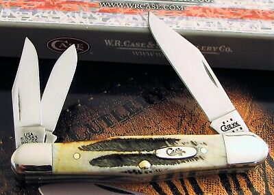 Case Bone Stag Whittler Knife From 2003 New Product Set Only 100 Made SN #018 NR