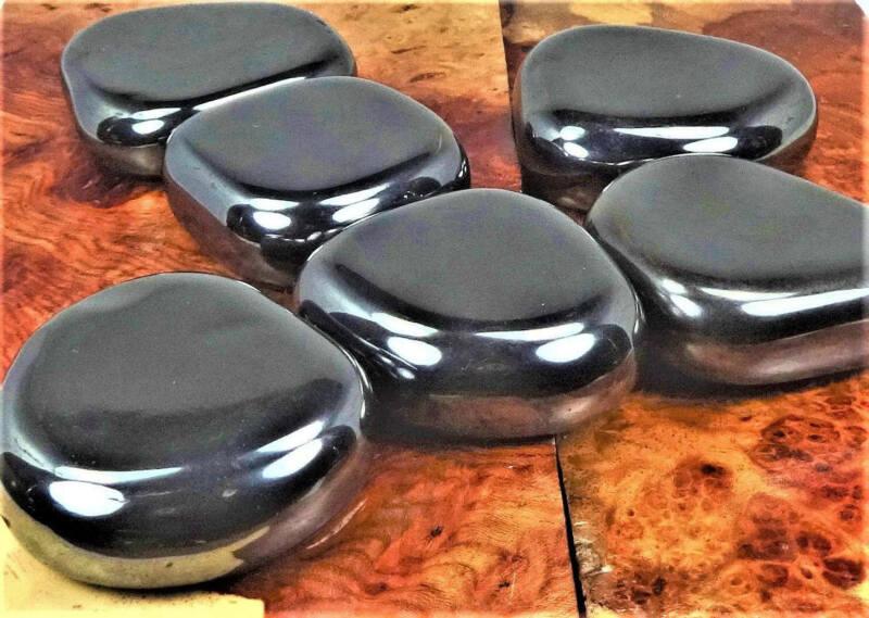 Bulk Wholesale Lot Of 1 LB - Magnetic Hematite Palm Stone - Round Polished