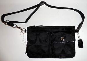 COACH-Black-Signature-Jacquard-HIP-BAG-Waist-Pouch-FANNY-PACK-F77315-148-NEW