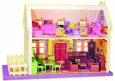 Pretend Play Set Doll House Barbie Dream House Cottage Kids (34 pcs) Multicolor