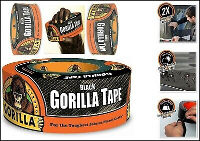 1-pack Gorilla Tape Black Heavy Duct Tape Waterproof In Outdoor 1.88 X 12 Yd