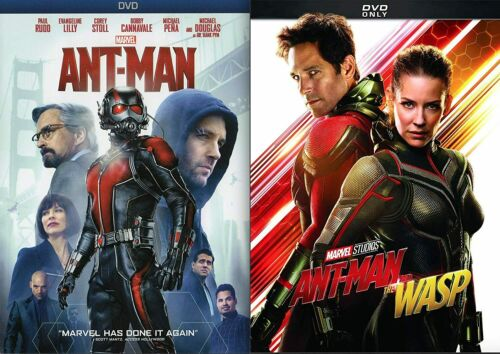 ANT-MAN 1 + ANT-MAN and the WASP DVD 2 Disc Set - Brand New - Free Shipping