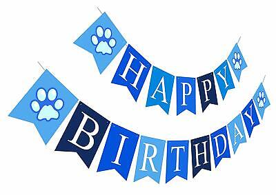 Happy Birthday Banner Boy Birthday Sign Paper Card Stock Bday Party Decoration](Bday Signs)