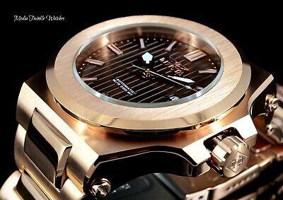 New 58mm Invicta AKULA PRESTIGE Automatic Brown Dial Rose Gold Bracelet Watch