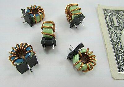 Lot 5 Trigon Mounted Toroidal Coil Inductors 4.5 Uh 10 3.5 Itc50528c4r5k Chokes