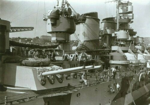 WW II  Photo <>  Italian Battleship Roma