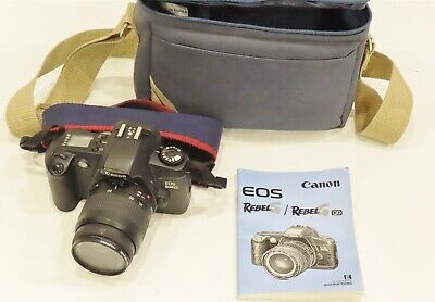 Canon Rebel EOS G 35mm Film Camera with 35-80mm zoom Lens new batteries