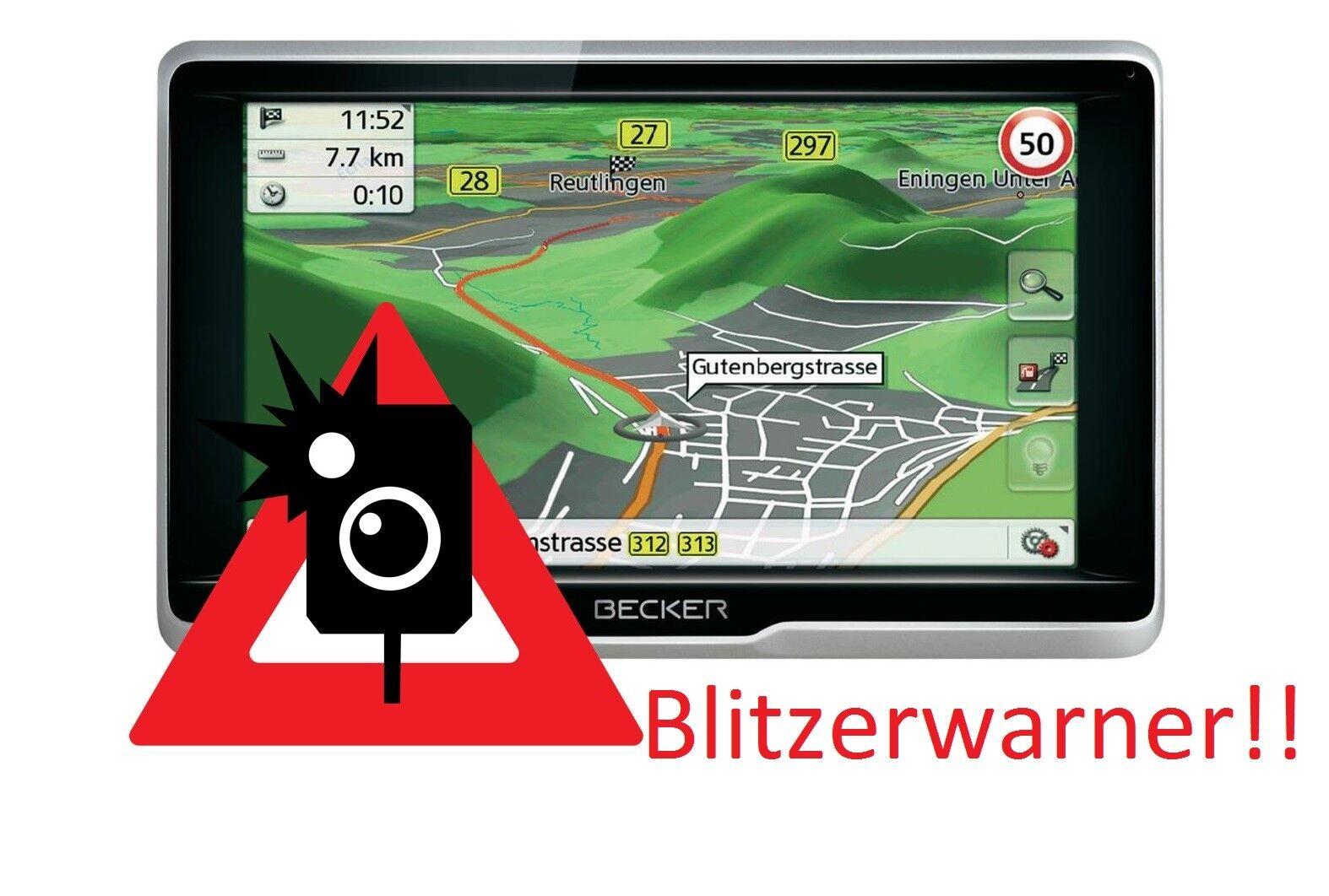 Becker Active Navigatisgerät Blitzerwarner Radarwarner immer Aktuell !!!NEU!!!