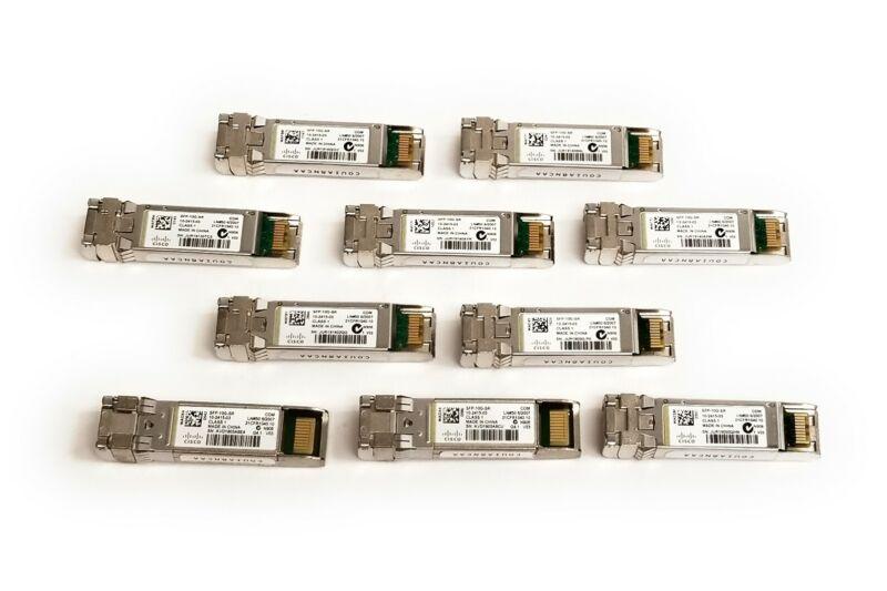 Lot of 10 Genuine Cisco SFP-10G-SR Transceiver Modules 10-2415-03 850nm MMF V03