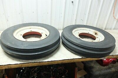 Ford 2n 2 N Tractor Front Wheels Rims And Tires