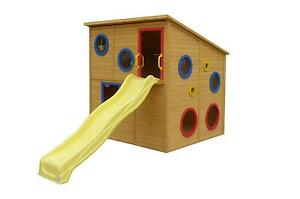 Kids Wooden Cubby House Play Fort with Slide and Windows East Perth Perth City Area Preview