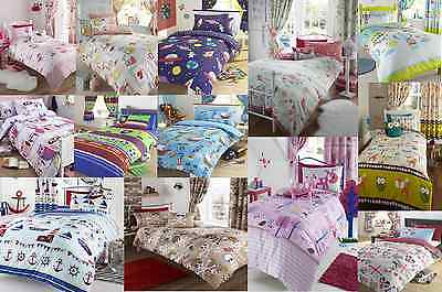 SINGLE / DOUBLE SIZE BOYS & GIRLS BEDDING SETS BLUE PINK RED