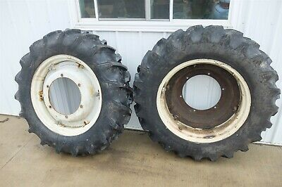 Ford 2n 2 N Tractor Rear Back Wheels Rims Tires
