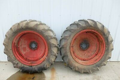 Ford 8n 8 N Tractor Rear Back Wheels Rims Tires