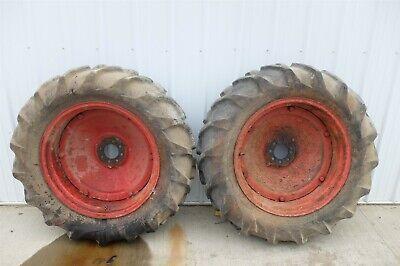 Ford 8n 8 N Tractor Rear Back Wheels Rims Tires