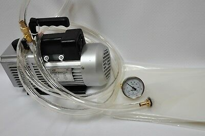 Deep Vacuum Pump Bagging Hardware Starter Kit6cfm Poly Fab Gauge Hose Adapters