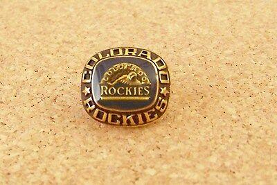 Colorado ROCKIES gold tone MLB lapel pin ring style design ()