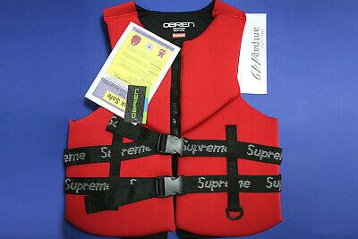 Supreme x O'Brien Life Vest Red Size XL SS18 USCG Uscg Life Vests