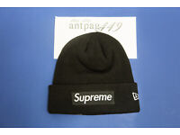 Supreme Overdyed Ribbed Beanie Black SS18 In Hand