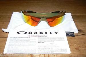 New-Oakley-Radarlock-Path-Fire-Iridium-Polarized-Vented-Replacement-Lens