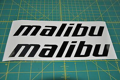 2 Malibu Boats Di Cut Stickers Decal Black Wakeboard
