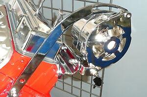 SB Chevy Chrome Universal SWP Alternator Bracket Kit 283 327 350 400 V8 Rat Rod