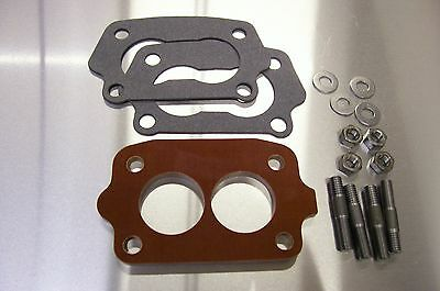 Fits Chevy Tri Power Riser Rochester Small 2g Carb Spacer Phenolic Riser 1/4 K