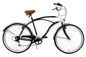 SNOB-AMERICA-USA-STYLE-BEACH-CRUISER-MENS-6-SPD-CALIFORNIA-STYLE-22-FRAME-D3614