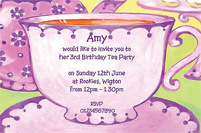 10 PERSONALISED KIDS PARTY INVITATIONS GIRLS TEA PARTY LIMITED – Kids Tea Party Invitations