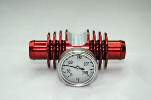 Super-Cooler-Temperature-Gauge-Red-Anodized-YFZ450-TRX450-Banshee-Raptor