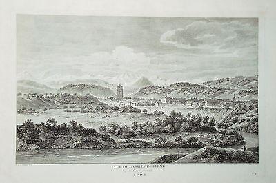Bern Berne Schweiz Kupferstich von Zurlauben 1780 selten!!!