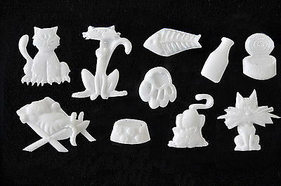 Animal set #3, Silicone Mold Chocolate Polymer Clay Jewelry Soap Wax Resin
