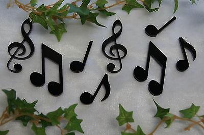 Notenschlüssel Violinschlüssel Tischdeko Dekoration Musik Noten  schwarz 8St