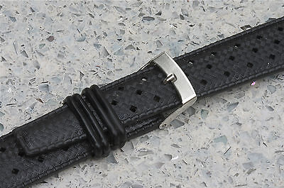 2 perforated rubber 19mm dive watch bands 1960s/70s EBAY best price 100+