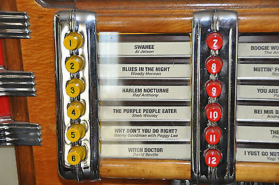 New Wurlitzer Jukebox Push Buttons for 1015, 950
