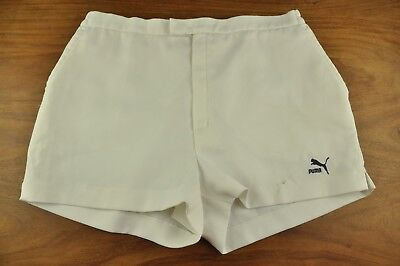 "Vtg 80's Puma Tennis Shorts - Ibiza Glanz - 32"" Small x761"