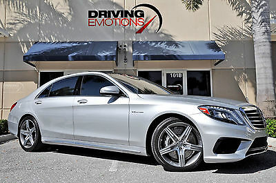 2014 MERCEDES S63 AMG! SILVER/BLACK! BURMESTER! NIGHTVIEW! PANO! 360 CAM! RARE!!