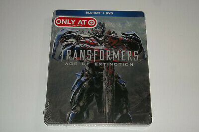 Transformers Age of Extinction Blu-Ray/DVD Steelbook, Target Exclusive, NEW