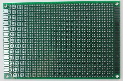 125 Double Sided Pcb Proto Perf Board Through Plated 812 8 X 12 Cm Usa Ship