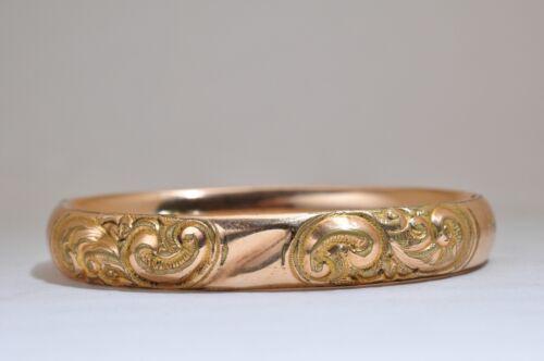 Vintage Gold Filled Ornate Bangle Bracelet
