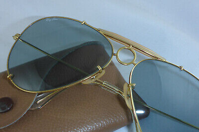 Like New! Vintage Ray Ban USA B&L Sharp Shooter Changeable Blue-Grey lenses 62mm