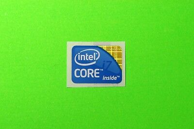 1x Original intel i7 Decal Sticker Label for laptop or PC